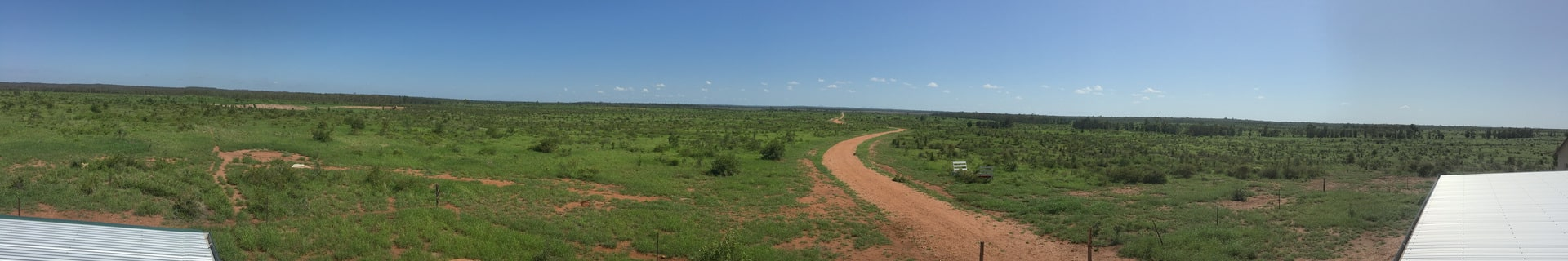 panoramic view of the bush in Emerald