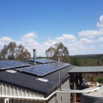 Solar panels on rooftop